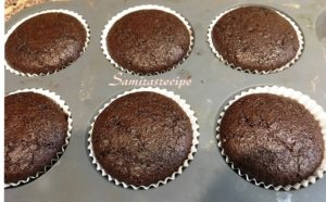 Bake Chocolate Muffins at 180 degrees C