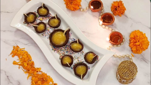 Edible Chocolate Diya
