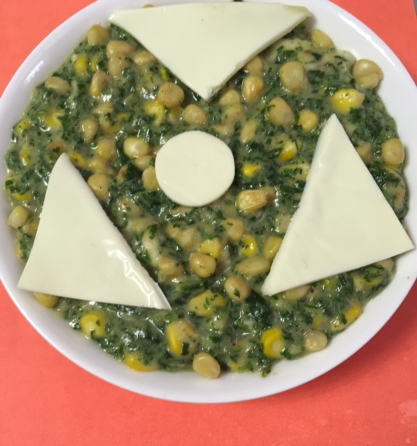 Spinach and Corn bake