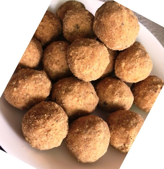 Besan Ladoo with jaggery
