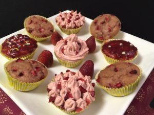 Eggless Strawberry Muffins
