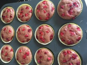 Eggless Strawberry Muffins, Best Eggless Strawberry Muffins Made With Wheat Flour