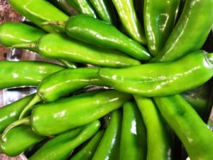 Rinse Green Chillies