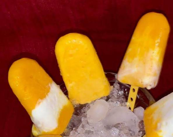 Guilt-Free Mango Yogurt Lollies