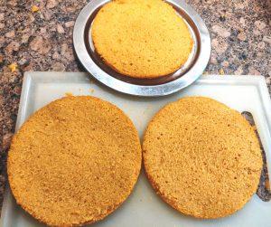 Mango cake icing method