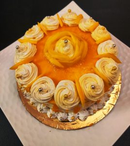 Mango Cream Cake Photo