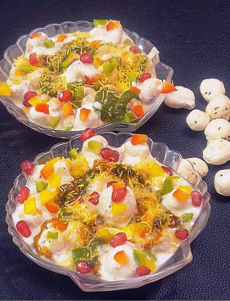 Roasted Makhana Chaat in Air Fryer