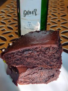 chocolate Cake with red wine