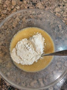 Add sifted flour in this in 2 or 3 batches.